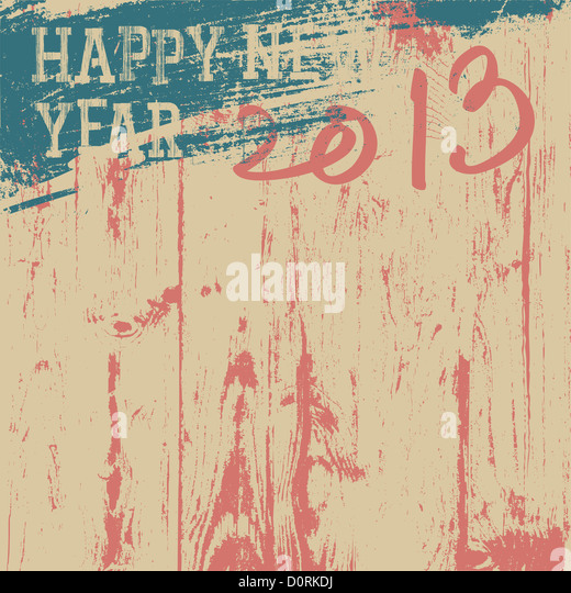 2013 New Year background retro styled - Stock Image