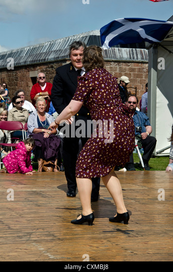 Couple In Ww Period Clothes Dancing The Jitterbug At An Historic Cxmbj on Camp Jitterbug