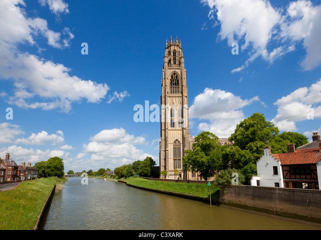 The Boston stump or St Botolph's church Wormgate Boston Lincolnshire  England GB UK EU Europe - Stock Image