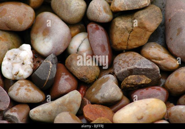 Wet Pebbles - Stock Image