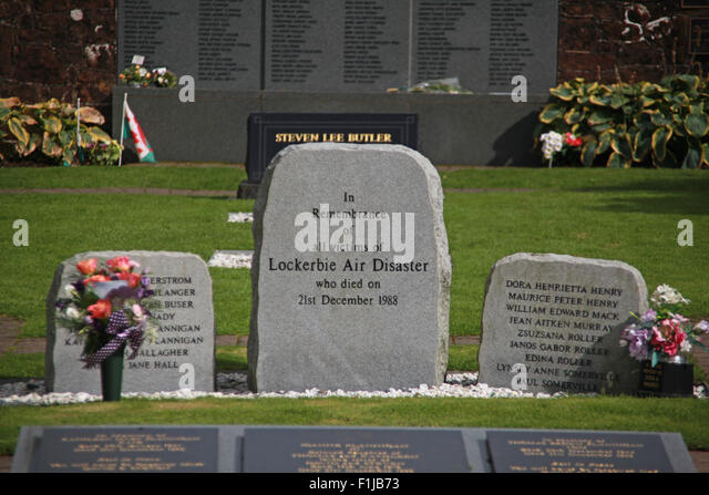 Lockerbie PanAm103 In Rememberance Memorial Stone Garden, Scotland - Stock Image