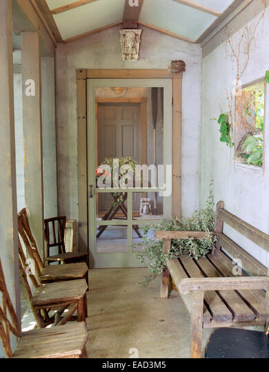 country garden porch - Stock Image