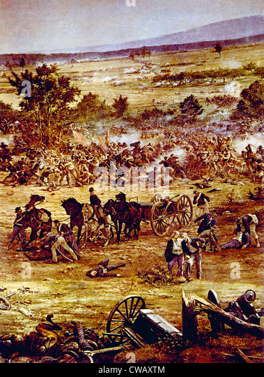 The Battle of Gettysburg, July, 1863 - Stock Image