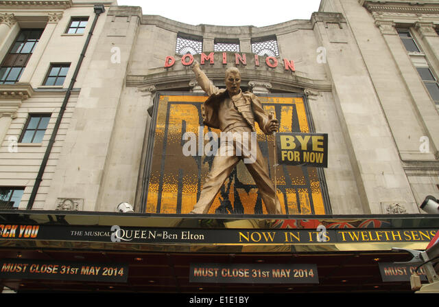 London, UK. 31 May 2014. The musical 'We Will Rock You' that has been running at the Dominion Theatre opening - Stock Image