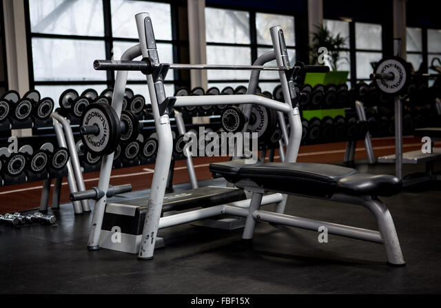 Weightlifting machine - Stock Image