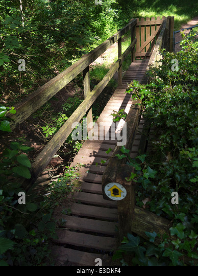 Offa's Dyke path on the border between Wales and England. - Stock Image
