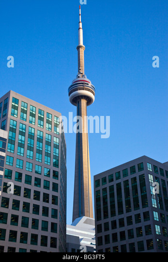 CN Tower in Toronto Canada - Stock Image