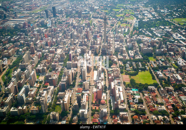 SOUTH AFRICA- Aerial view of Johannesburg - Stock Image
