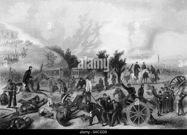 1860s JULY 1863 BATTLE OF GETTYSBURG - Stock Image