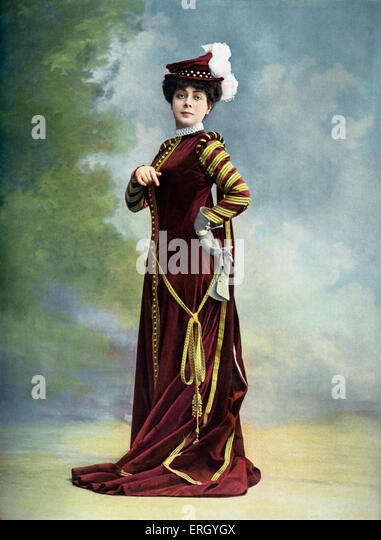Rose Féart as Valentine in 'Les Huguenots', French opera by Giacomo Meyerbeer with libretto by Eugène - Stock Image