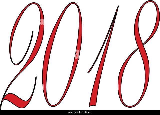 Happy 2018 sign - Stock Image