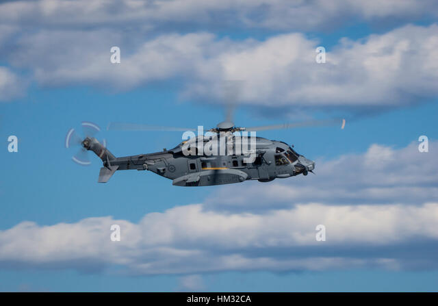 The Royal Canadian Air Force CH-148 Cyclone is a militarized version of Sikorsky's S-92 helicopter. It will - Stock Image