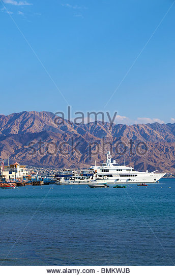 Beach at Eilat Israel - Stock Image