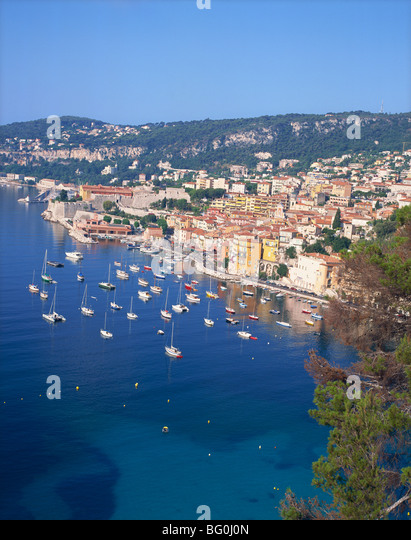 Villefranche, Alpes-Maritimes, Cote d'Azur, French Riviera, Provence, France, Mediterranean, Europe - Stock Image