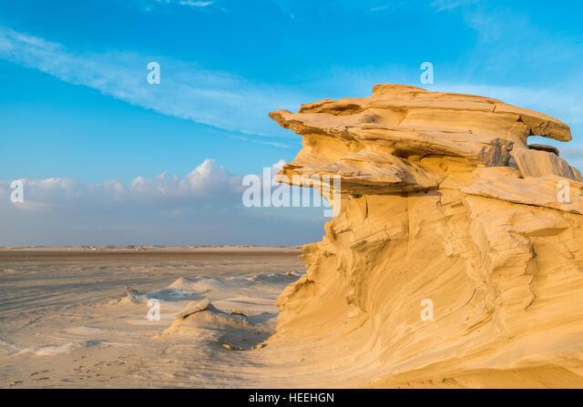 Fossil dunes, Abu Dhabi, UAE - Stock Image