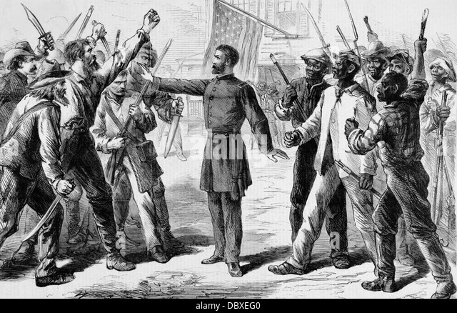 The freeing of slaves after the civil war and faith of afro americans in the united states