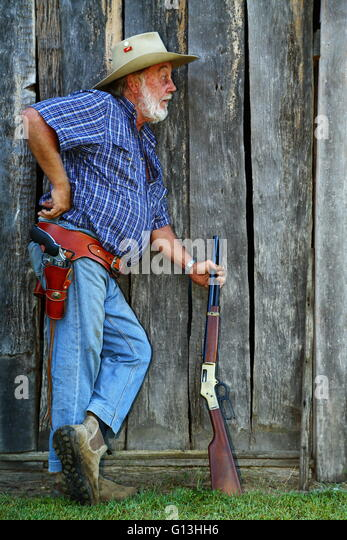 Cowboy With Rifle Stock Photos Amp Cowboy With Rifle Stock