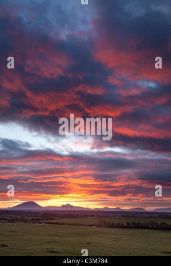 Sunset over the Nephin Beg Mountains, County Sligo, Ireland. - Stock-Bilder
