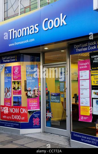 Thomas Cook Travel Agents, Cambridge, England, UK - Stock-Bilder