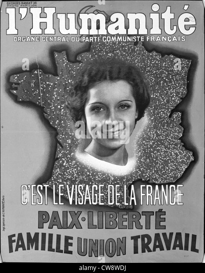 Advertising poster French Communist Party newspaper 'l'Humanité' - Stock Image