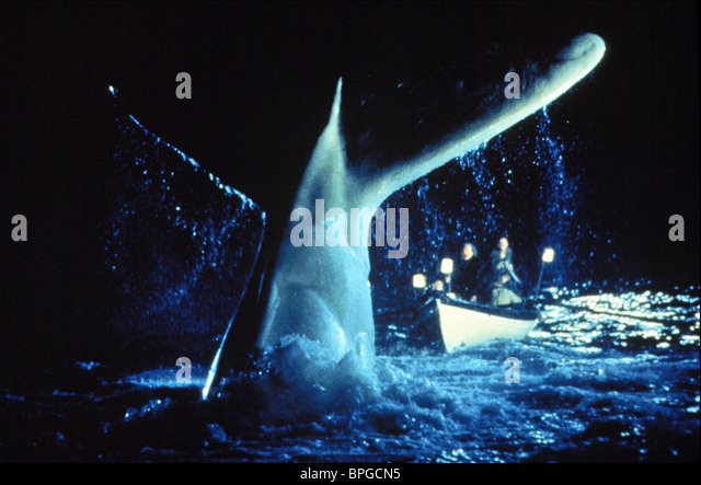 WHALE ATTACKS ROWING BOAT MOBY DICK (1998) - Stock Image