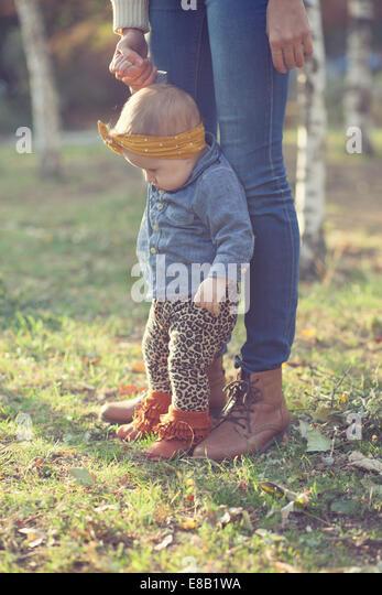 Stylish six months baby - Stock Image