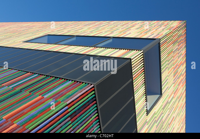 Colorful modern building - Stock Image