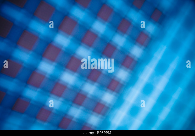 Blurred blue pattern - Stock Image