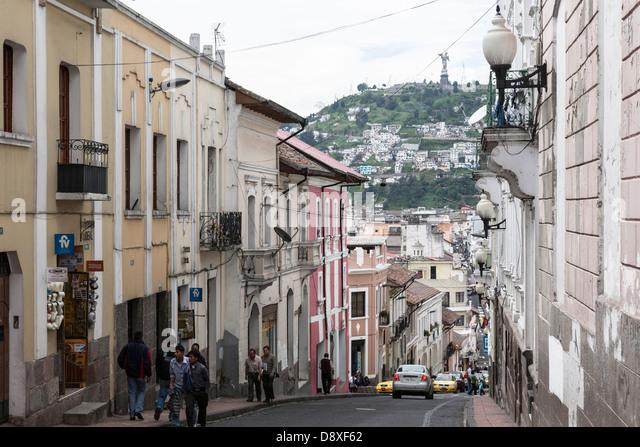 Virgen de Quito, Cerro Panecillo Hill, Quito, Old City, Ecuador - Stock Image