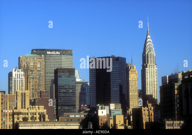 Manhattan skyline New York City USA - Stock Image