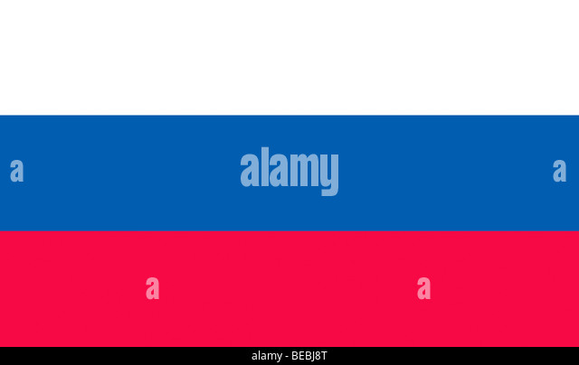 Russian Federation flag illustration - Stock Image