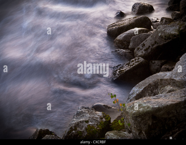 River long exposure - Stock Image