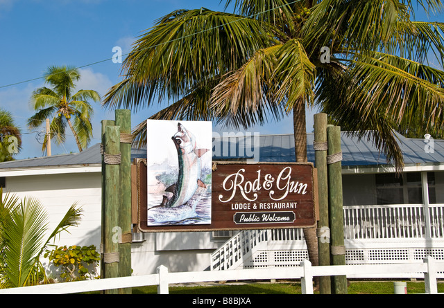 Everglades Rod and Gun Club hotel in Everglades City FL - Stock Image