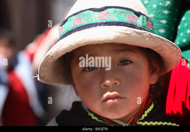 Little girl in Peru - Stock-Bilder