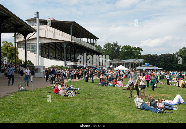 Cologne horse racing track Germany - Stock Image