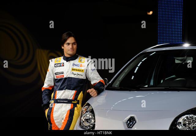 Renault Twingo Sport - launch 2007. Artist: Simon Clay. - Stock Image