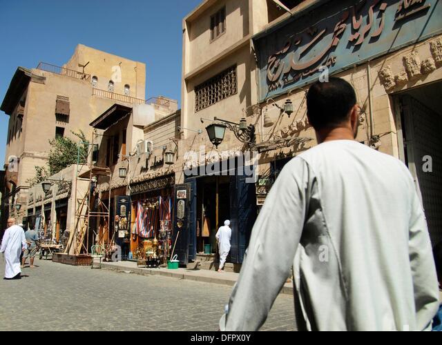 Calle hist rica al muizz stock photos calle hist rica al for Bazares calle jujuy