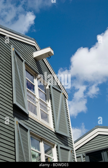 Wooden modern houses in Amsterdam, Holland - Stock Image