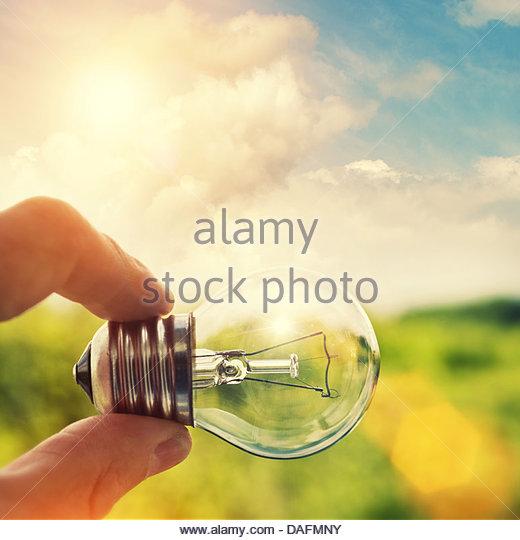 sunshine lightbulb - Stock Image