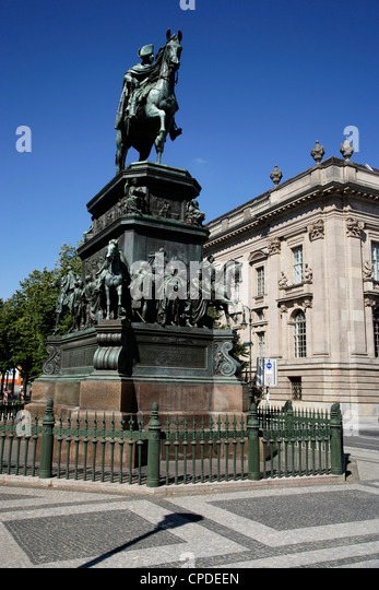 Friedrich Monument, Unter den Linden, Berlin, Germany, Europe - Stock Image
