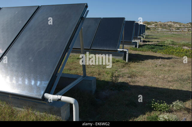 Solar thermal energy (STE), an innovative technology for harnessing solar energy for thermal energy (heat), located - Stock Image