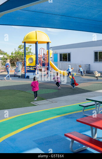 Preschool playground in San Diego, California - Stock Image
