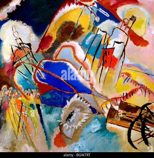 Vasily Kandinsky Improvisation No. 30 (Cannons) 1913 - Stock Image