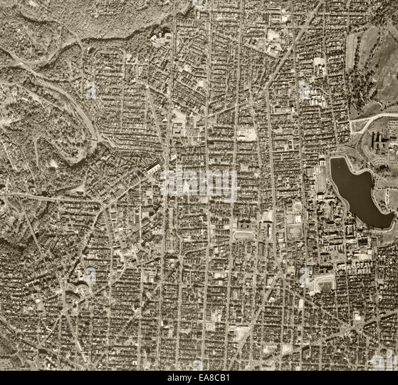 historical aerial photograph of Washington, DC, 1968 - Stock Image