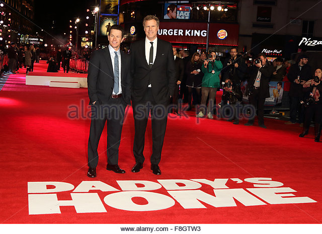 London, United Kingdom. December 9th, 2015. Mark Wahlberg and Will Ferrell graced the red carpet in London for the - Stock Image
