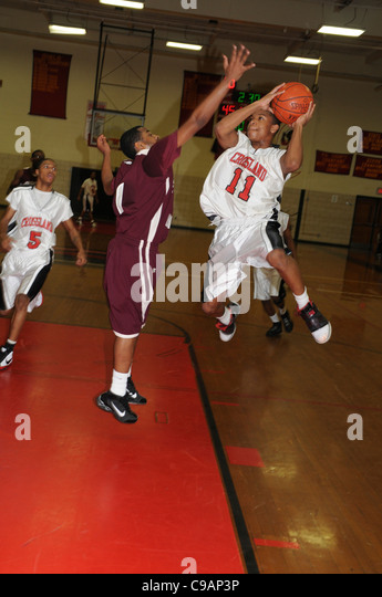 Boys high school basketball Brandywine, Maryland - Stock Image