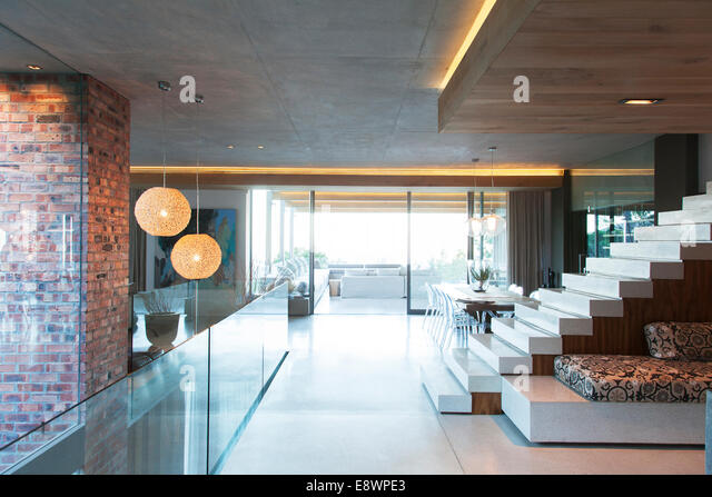 Open modern living space - Stock Image