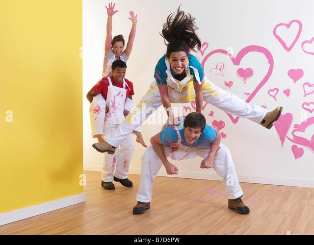 Couples having fun. - Stock Image