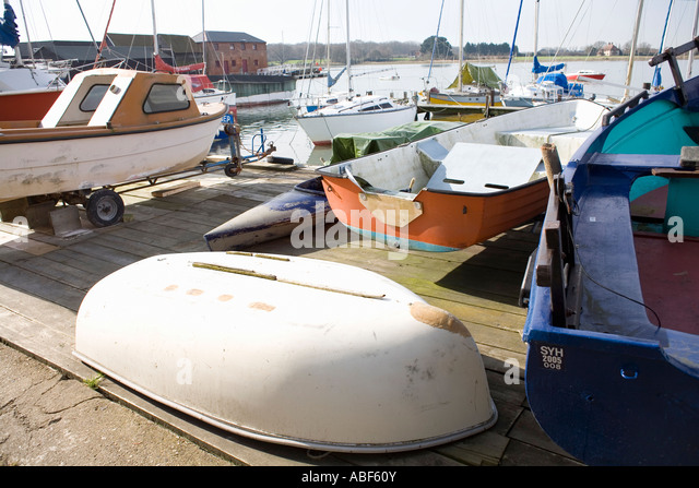 Boats at Dell Quay, Chichester Harbour, Sussex, England - Stock Image