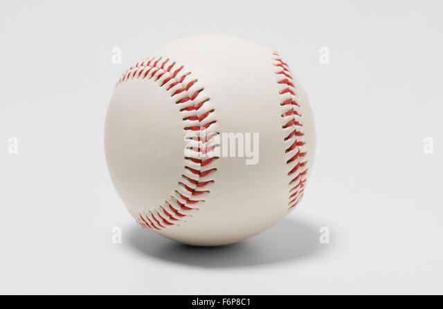 Baseball, round, stitch, game ball - Stock Image